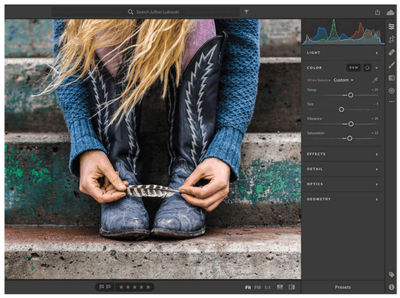 Adobe Creative Cloud for students - Interface