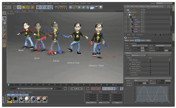Cinema 4D For students - User interface