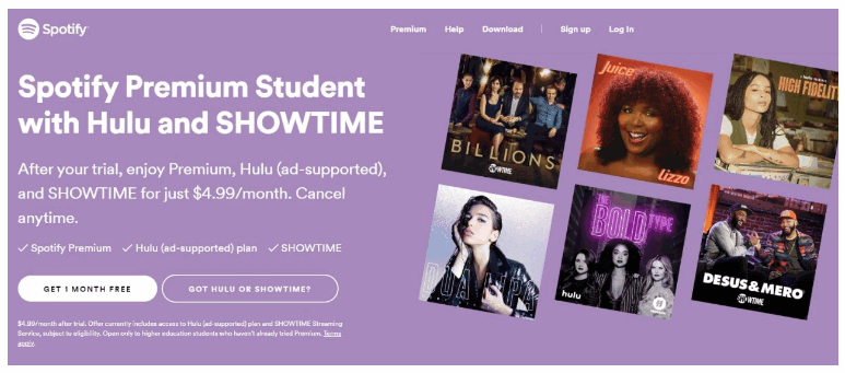 Showtime Student Discount