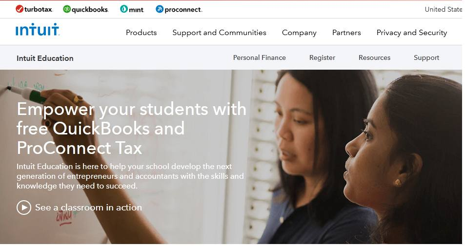 QuickBooks for students