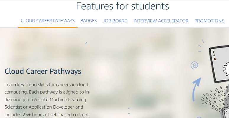 Features of aws for students