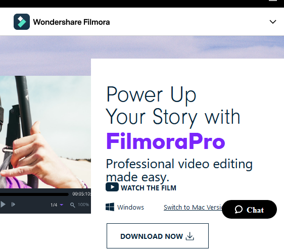 Filmora video editing software for students