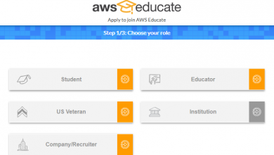 AWS for students - platform