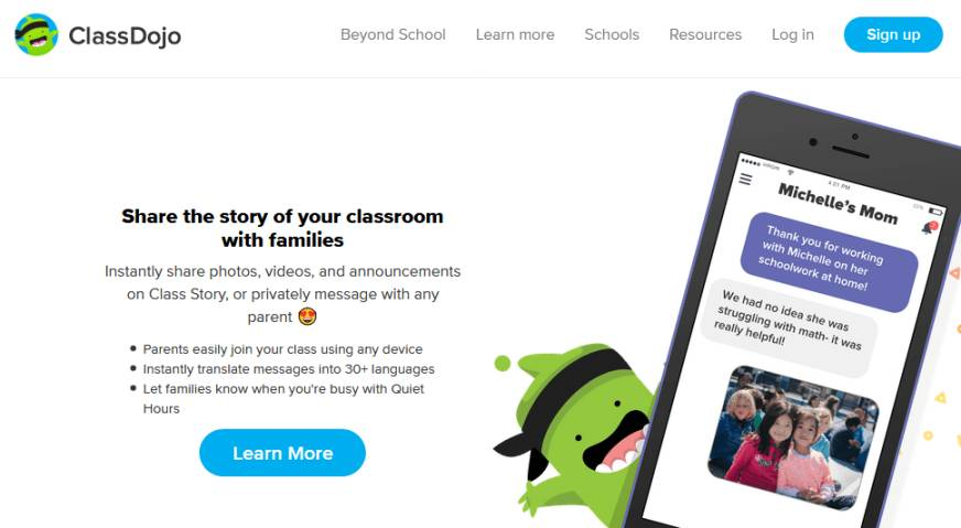 ClassDojo for students: Features