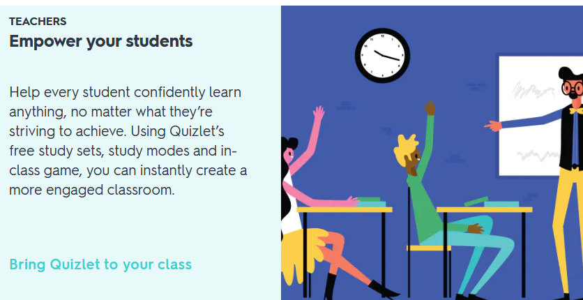 Quizlet for students: Beneficial to teachers