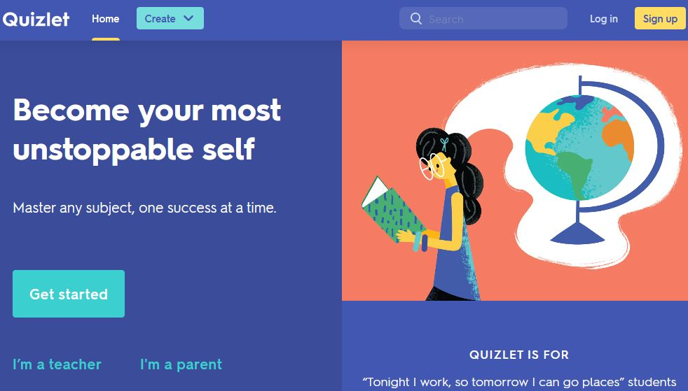 Quizlet for students: Homepage