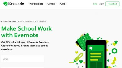Evernote for students: Homepage